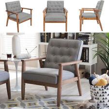 Modern Fabric Arm Chair Single Sofa Seat Leisure Living Room Furniture Grey