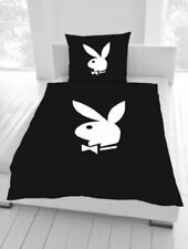 Bettwäsche Playboy Bunny Classic schwarz 135 x 200cm 80 x 80 cm Geschenk NEU WOW