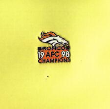 1998 Denver Broncos NFL Football AFC Champions Logo Lapel Hat Pin