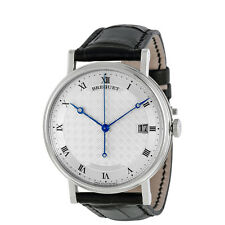 Breguet Classique Silver Dial 18kt White Gold Mens Watch 5177BB129V6