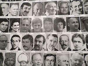 Poster - 430 Most Prominent Serbs Through History - European World Serbia Jokic