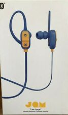 JAM - Live Large - Wireless Bluetooth Earphones - Hands Free Calls - Blue - NEW