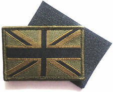 GB UNION JACK PATCH velcro®  backed UBAC army olive military flag badge UK Force
