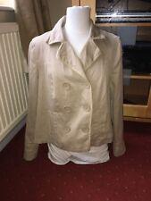 Pre Loved Gap XL Ladies Beige Long Sleeve Double Breasted Effect Jacket