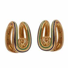 Gucci Vintage Enamel 18k Yellow Gold Cufflinks