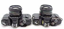 2x Canon AV-1 vintage 35mm SLR camera, lens FD 50mm 1: 1.8