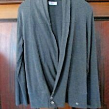 Strickjacke mittelgrau Gr 36/38 von Flashlights