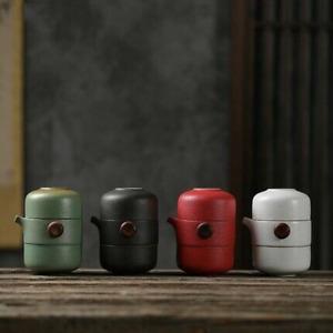 Ceramic Teapot Portable Travel Tea Set Set Office Tea Set with Travel Bag&Towel