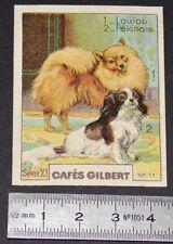 CHROMO 1936 CAFES GILBERT RACES DE CHIENS LOULOU POMERANIE PEKINOIS DOGS HUNDE