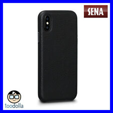 Sena Bence Leatherskin - Minimalist Genuine Leather Case for iPhone X/xs Black