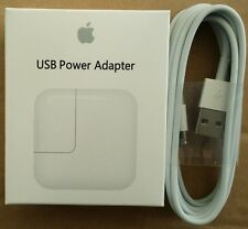 iPad 3/4 Wall Charger USB power Adapter 12W Authentic +6 ft Lightning Cable