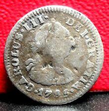 Nice 1785 FM Carlos III Mexico 1/2 Real KM# 69.2a