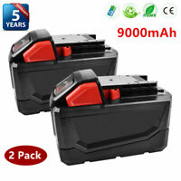 2× For Milwaukee M18 Li-Ion XC 9.0 AH Extended Capacity Battery Pack 48-11-1852