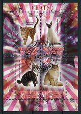 Chad 2013 CTO Cats American Shorthair Maine Coon 4v M/S Chats Cat Stamps