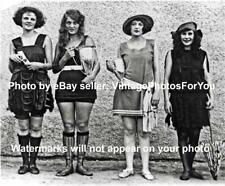Old/Vintage Prohibition Era 4 Sexy Swimsuit Competition Women Winners 1922 Photo