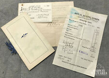 WW1 era, Royal Flying Corps / Great West Saddlery Paper Lot, CULLEN  (18505)