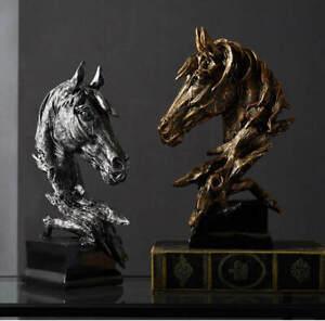 Retro Art Horse Head Abstract Figurine Sculpture Statue Craft Quality Decoration