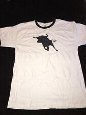 Spagnolo Bull Toro T SHIRT Grande L perfetti per addio al celibato bianco con finiture nero