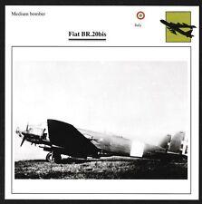 Italy Fiat BR.20bis Medium Bomber Warplane Aviation Card - I Combine S/H