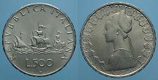 REPUBBLICA ITALIANA 500 LIRE 1966 R CARAVELLE FDC 2