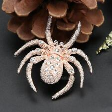 Fashion Women Exquisite Spider Crystal Rhinestone Brooch Pin Party Jewelry Gifts