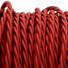 BURGUNDY TWIST vintage style textile fabric electrical cord cloth cool cable 1m