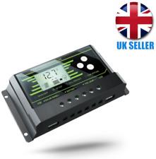 30A Solar Charge Regulator Controller Back-Lights 12V/24V Auto Dual USB