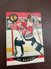 1990 Pro Set Ed Belfour 10 GEM MINT Rookie Error Card!!