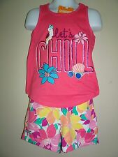 NWT GYMBOREE MIX 'N' MATCH SIZE SMALL 5 6 SET CHILL TANK TOP FLORAL SHORTS NEW