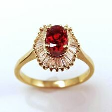 Solitaire with Accents Ruby 18k Engagement Rings