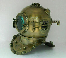 Brass Morse Antique Nautical Scuba Diving Divers Helmet Navy Mark Marine Boston