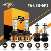 AUXBEAM H13 9145 LED Headlight Fog Light for Dodge RAM 1500 2500 3500 2009-2012
