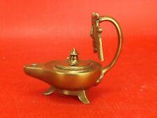 Belle Lampe à Huile en Bronze, Masque de Théatre à l'Antique. XIXe siècle. N°1