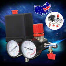 AU 180PSI Air Compressor Pressure Valve Switch Manifold Relief Regulator Gauges