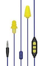 Plugfones Guardian Plus Earplugs With Audio Earplug Headphones NRR 26 DB