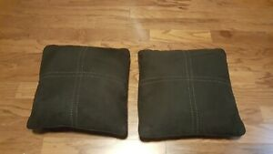 "2 square black throw bed pillows filled 14"" X 14"""