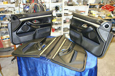 Set 4 BMW e39 Türverkleidungen doorboards door board Leder leather Tür pappe