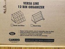 Cambro 12RS12110 Versa Black 12-Bin Organizer Rack