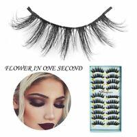 10 Pairs Faux Mink 3D False Eyelashes Long Thick Mixed Fake Eye Lashes Makeup