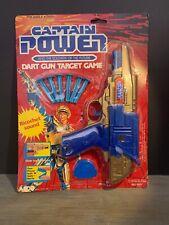 Captain Power Dart Gun Target Game Toy- VINTAGE