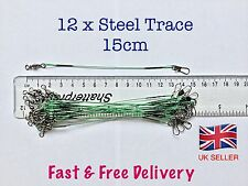 Steel Fishing Trace Lures Leader Wire Steel 15cm           *****UK SELLER*****