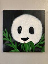 """Deaf Artist Piece """"Dinner Interupted"""" 12x12 Acrylic On Canvas"""