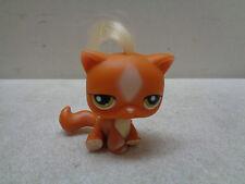 LITTLEST PET SHOP ORANGE CREAM CAT REAL HAIR GREEN EYES # 226