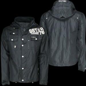 Mens Soulstar jackets White, Black, Navy, Charcoal, Grey, MJ DETAIN SStar76