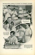 1927 Magazine Article Teaching Cake Decorating Baking Bakers Wedding Cakes