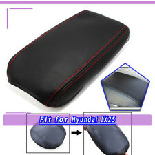 Leather Console Lid Armrest Cover Black für Hyundai IX25 2015-2018