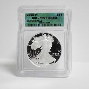 2005-W Silver Eagle Dollar ICG PR70 DCAM (slb1937)