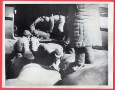 1948 Loading Rice After Wounded Taken Off Aircraft Suchow China 7x9 News Photo