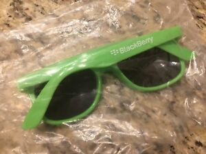BlackBerry (RIM) Logo Sunglasses (BRIGHT GREEN) * Promo * Swag * TeamBlackBerry