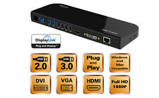 Wavlink USB3.0 Universal Docking Station Dual Video Monitor Support DVI HDMI VGA